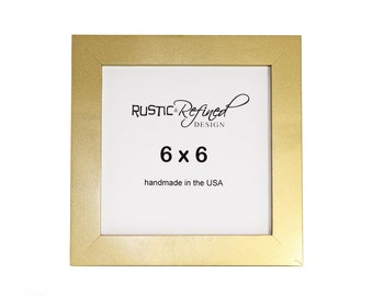 6x6 gallery 1 picture frame with gold