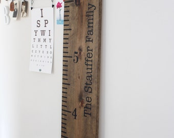 Keepsake Ruler, Wood Growth Chart, Large Ruler Sign, Childrens Height Ruler