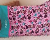 Minnie Mouse Custom Pillowcase - Embroidered Pillowcase - Custom bedding