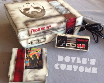 Friday the 13th NES console with cartridge!