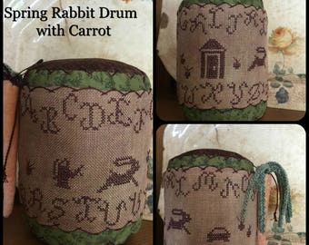 Spring Rabbit Drum with Carrot