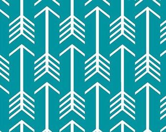 Shannon Fabrics Teal Arrow Minky