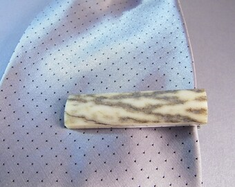 Elk Antler Tieclip SHIPS IMMEDIATELY Handmade Antler Tie Bar