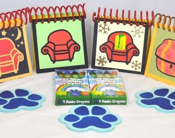 The STEVE's fans Blue's Clues Notebook Collection - 6 Handcrafted Steve style Handy Dandy Notebooks