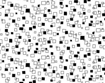 Monochrome White with Black Squares TP-1828-W by Makower for Andover Fabrics