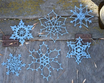 """Shop """"crochet snowflakes"""" in Art & Collectibles"""