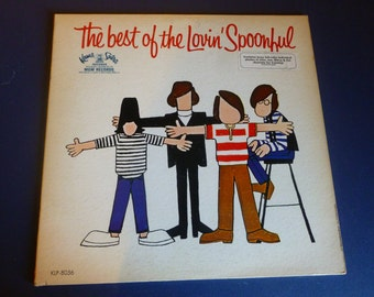 """The Best Of The Lovin' Spoonful Vinyl Record KLP-8056  """"4 color photos included""""  Kama Sutra Records"""