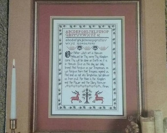Classic 18th Century Sampler, Counted Cross Stitch, Book 10, Lords Prayer, Birth & Wedding  Samplers, Vintage, OFG