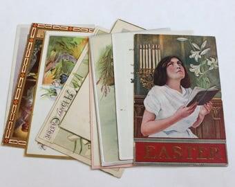 10 Antique Easter Postcards - Vintage Easter Crafts, Scrapbooking, Holiday Decor