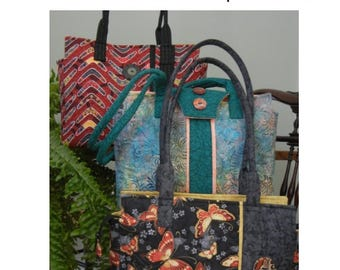 Pattern  - Large Shoulder Purse With Multiple Closure Options - Brook Style