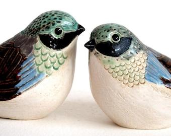 SALE! pottery lovebirds