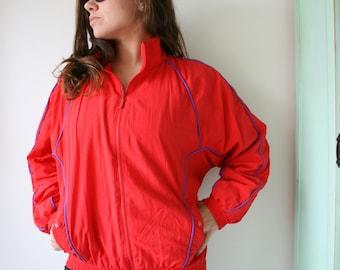 1980s LIZ CLAIBORNE Jacket...size medium large. red. sports jacket. mesh. retro. designer vintage. 1980s. 1990s. rad. womens. liz claiborne