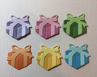 6 Present Die Cuts for Scrapbooking Cards and Paper Crafts Christmas Gift Embellishment