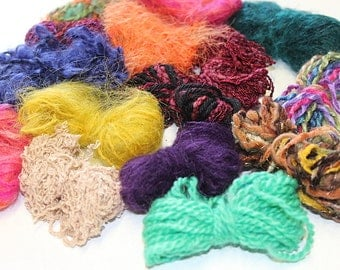Yarn Lollies - mixed  fibres & colours