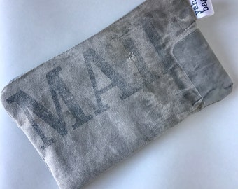 MAIL - reconstructed vintage US mail bag small pouch