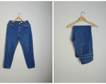 vintage 550s levi's dark wash petite tapered leg high waisted - 30x27
