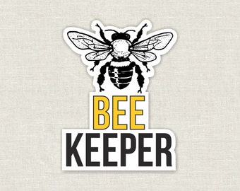 beekeeper diecut bumper sticker or laptop decal