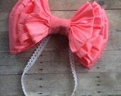 Sale couture headband , child headbands , baby headband , silk bow , bow headband , couture bow