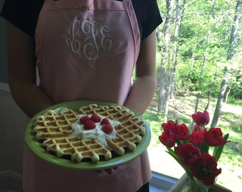 Monogrammed Women's Apron, Personalized Apron, Cooking and Baking Apron Gift