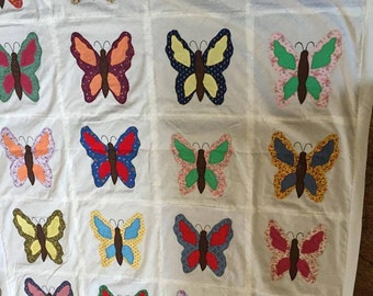 Butterflies quilt top only
