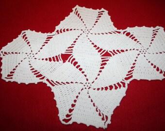 Vintage Hand Crocheted Runner- Oblong