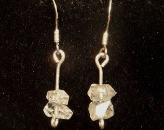 HERKIMER DIAMOND EARRINGS from ny. sterling silver