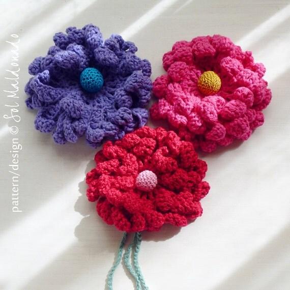 Crochet Flower Pattern PDF - Peony easy, beginner crochet ...