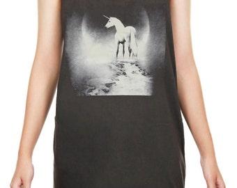 Unicorn Tank Top Unicorn Shirt Unicorn Animal Art Design Tank Women Shirt Tunic Top Vest Tank Top Size m, l , xl - JBT159