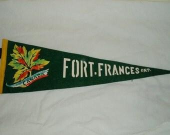 Vintage Pennant, Fort Frances, Ontario Canada