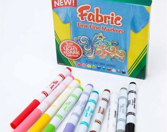 Crayola 10ct. Fine Line Fabric Markers - 1 package
