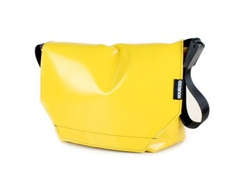 Large Messenger Bag made from Recycled Truck Tarp, Man Bag, Satchel Style Bag, MacBook Bag (59.05)