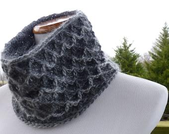 Gray Diamond Cowl Neck Warmer