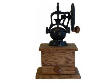 Mechanical Coffee Grinder - Mechanical Coffee Mill - Fresh Ground Coffee - Handmade wooden base - Burr Grinder - Foodie -CG106