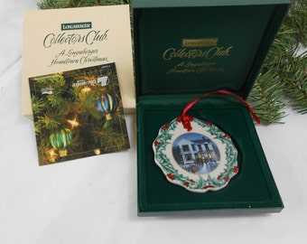 Vintage Longaberger Collector Club 1997 A Longaberger Hometown Christmas 1997 Longaberger Christmas ornament new old stock