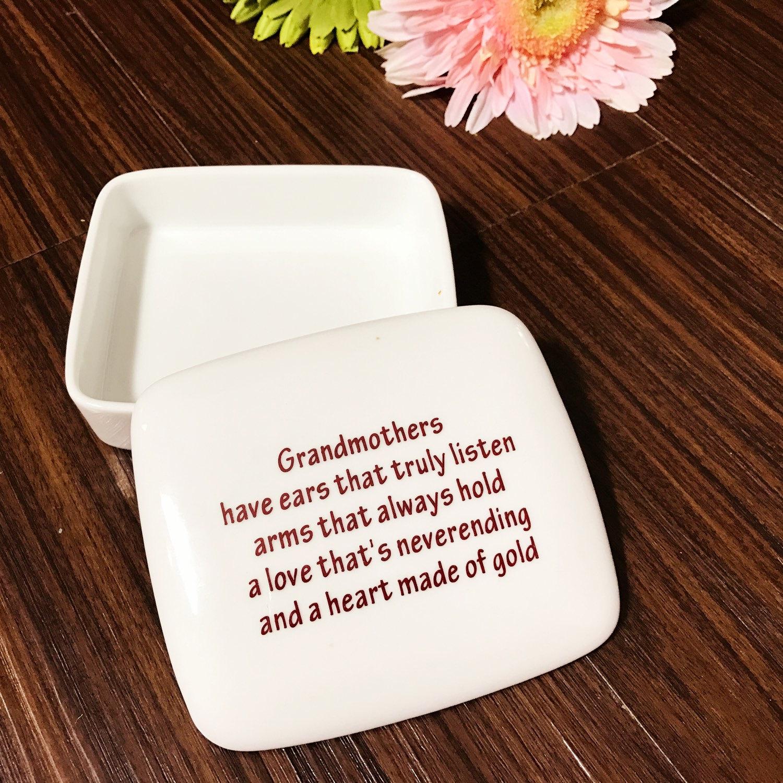 Gift for grandma handmade ceramic trinket box
