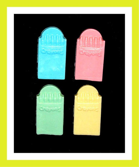 24 Crayon Soap Favors,Birthday Party Favors,School Favors,Personalized Button Pin,School Party,Girl Birthday Favor,Boy Birthday Favor