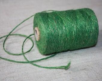 2 mm Green Jute Cord Natural = 1 spool = 110 yards = 100 meters