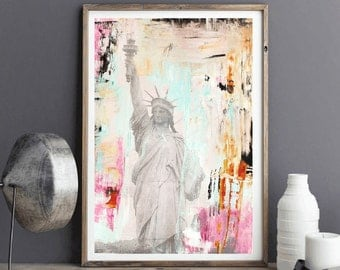 art painting new york   abstract painting  colorful aceylic painting , from jolina anthony signet  express shipping