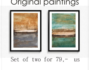 abstract painting nice wall art two acrylic painting wunderful landscape painting by Jolina Anthony
