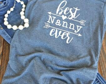 Best nanny ever - nanny shirt - nanny gift - grandma shirt - tribal - woman's graphic t-shirt - teacher shirt