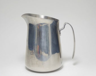 Vintage 18/8 Stainless Steel Milk Frothing Pitcher, 18/8 Stainless Steel Pitcher, 18/8 Stainless Steel Milk Pitcher, 18/8 Stainless Pitcher