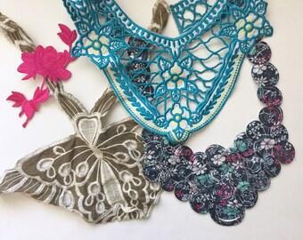 Fashion trim, Crochet trim, Floral Patch, Crafting Supply, Sewing Supply, Fashion Trim