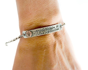 Silver Medical Alert Bracelet - sterling silver medical jewelry, large link chain, silver health jewelry, health identification