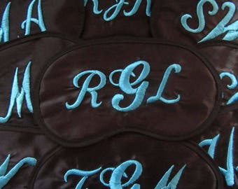 Monogram Initials - Custom Made Personalized Embroidered Eye Mask