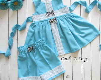 Girls Linen Short Set-Size 4T Ready to Ship