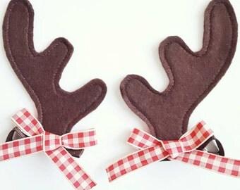 Reindeer Antlers Hair Clips Reindeer Ears Hair Clips for Christmas Costumes or Dress Up