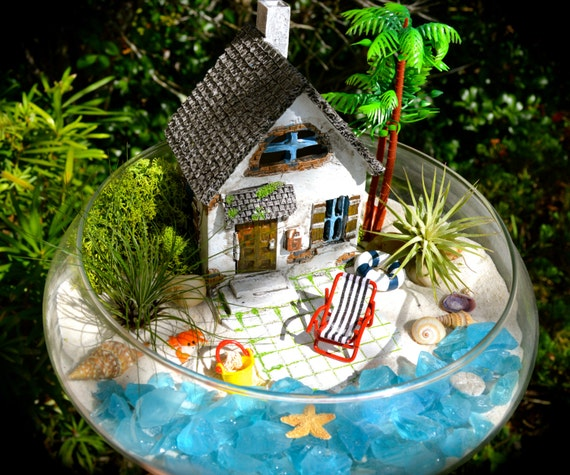 Beach House Decor Items: Items Similar To Beachside Cottage Terrarium Kit