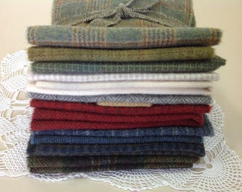 WOOL PACK for Rug Hooking and Applique, J981, Wool Fabric Bundle