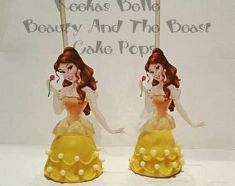 12 Belle beauty and the beast cake pops beauty and the beast party favors