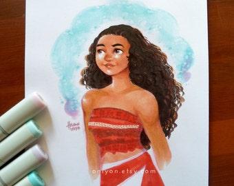 Hand drawn Moana fan art Illustration